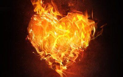 Amber Flame Burning